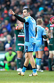 6th January 2018, Welford Road Stadium, Leicester, England; Aviva Premiership rugby, Leicester Tigers versus London Irish; Fly-half James Marshall in action for London Irish