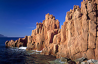 Italy, Sardinia, red rocks of Arbatax