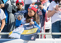 CHICAGO, IL - OCTOBER 6: Fans cheer during a game between Korea Republic and USWNT at Soldier Field on October 6, 2019 in Chicago, Illinois.