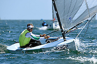 Finn / Jake Lilley (AUS)<br /> ISAF Sailing World Cup Final - Melbourne<br /> St Kilda sailing precinct, Victoria<br /> Port Phillip Bay Tuesday 6 Dec 2016<br /> &copy; Sport the library / Jeff Crow