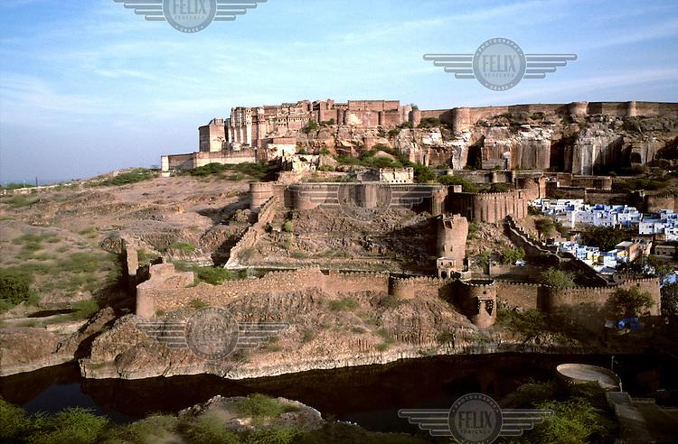 Mehrangarh Fort in the city of Jodhpur.