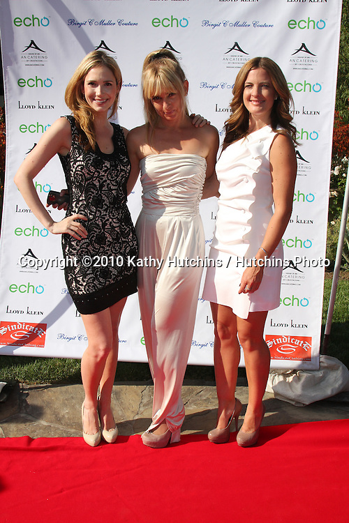 Ashley Jones, Birgit C. Muller, Daniella Peters.arrives at the Birgit C. Muller Fashion Show at.Chaves Ranch in.Los Angeles, CA on.July 11, 2010.©2010 Kathy Hutchins / Hutchins Photo.....