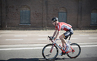 Marcel Sieberg (DEU/Lotto-Soudal) just before he would crash out of the race<br /> <br /> 12th Eneco Tour 2016 (UCI World Tour)<br /> Stage 6: Riemst › Lanaken (185km)