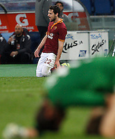 Calcio, Serie A: Roma vs Torino. Roma, stadio Olimpico, 25 marzo 2014.<br /> AS Roma forward Mattia Destro celebrates after scoring during the Italian Serie A football match between AS Roma and Torino at Rome's Olympic stadium, 25 March 2014.<br /> UPDATE IMAGES PRESS/Riccardo De Luca