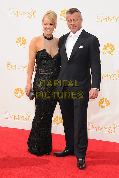 25 August 2014 - Los Angeles, California - Andrea Anders, Matt LeBlanc. 66th Annual Primetime Emmy Awards - Arrivals held at Nokia Theatre LA Live. <br /> CAP/ADM/BP<br /> &copy;BP/ADM/Capital Pictures