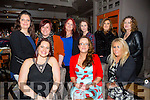 Imperial Friends from Tralee celebrating women's christmas at NO 4 The Square on Friday Front l-r Emer O'Flaherty, Caitriona McCaughley, Lisa Nelligan Back l-r Anna Buckley, Tracy Heaphy, Laura Smith, Sarah Donoghue, Mary Buckley and Phil Dunworth