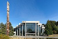 The UBC Museum of Anthropology building designed by Arthur Erickson, Vancouver, BC, Canada