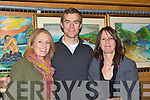 Admiring the art at the Killarney Rotary club wine and art evening in the Malton Hotel on Thursday evening was l-r: Noreen O'Donoghue, Ryan Thomas and Catherine Mangan Killorglin ..