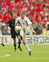 John O'Brien traps the ball. The USA tied South Korea, 1-1, during the FIFA World Cup 2002 in Daegu, Korea.