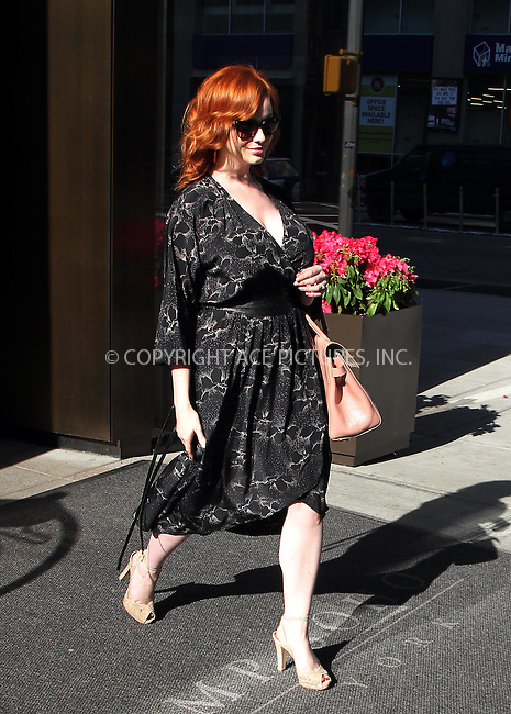 WWW.ACEPIXS.COM . . . . .  ....May 16 2012, New York City....Actress Christina Hendricks leaves a hotel on May 16 2012 in New York City....Please byline: Zelig Shaul - ACE PICTURES.... *** ***..Ace Pictures, Inc:  ..Philip Vaughan (212) 243-8787 or (646) 769 0430..e-mail: info@acepixs.com..web: http://www.acepixs.com