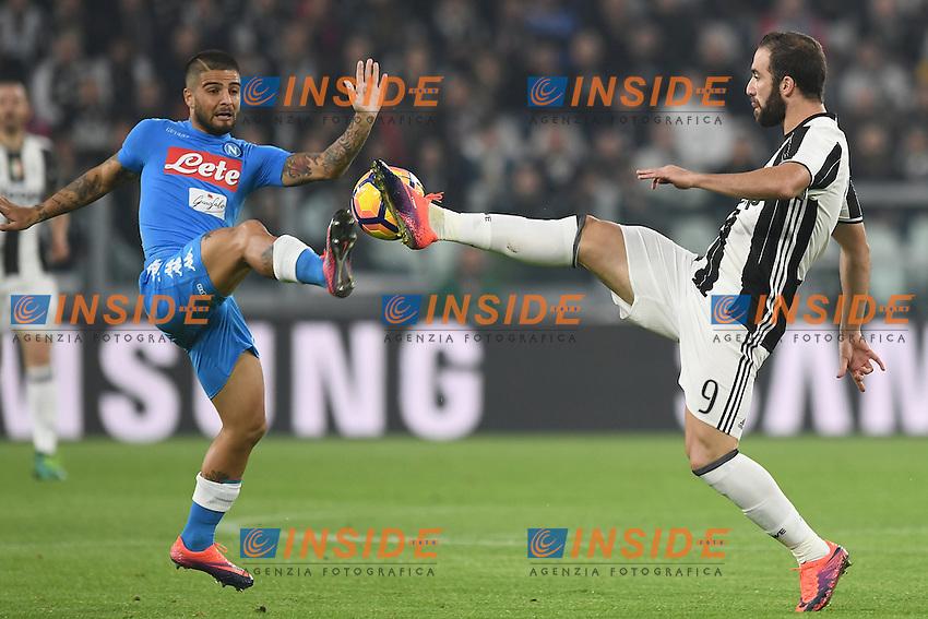 Lorenzo Insigne Napoli, Gonzalo Higuain Juventus <br /> Torino 29-10-2016 Juventus Stadium Football Calcio Serie A 2016/2017 Juventus - Napoli . Foto Image Sport /  Insidefoto