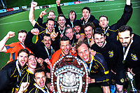 Capital celebrate winning the men's National Hockey League final between Harbour and Capital at National Hockey Stadium in Wellington, New Zealand on Sunday, 23 September 2018. Photo: Dave Lintott / lintottphoto.co.nz