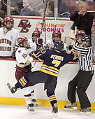 Tim Kunes, Joe Adams - Brian O'Hanley, Jerry York, Matt Greene - Stephen Gionta, Matt Byrnes - Boston College defeated Merrimack College 3-0 with Tim Filangieri's first two collegiate goals on November 26, 2005 at Kelley Rink/Conte Forum in Chestnut Hill, MA.