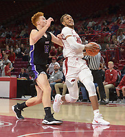 NWA Democrat-Gazette/ANDY SHUPE<br /> Arkansas Southwest Baptist Friday, Nov. 2, 2018, during the first half of their exhibition game in Bud Walton Arena. Visit nwadg.com/photos to see more photographs from the game.