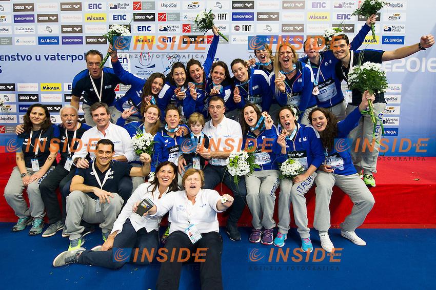 Podio<br /> Team Italy Bronze Medal<br /> LEN European Water Polo Championships 2016<br /> Kombank Arena, Belgrade, Serbia <br /> Day13  22-01-2016<br /> Photo G. Scala/Insidefoto/Deepbluemedia