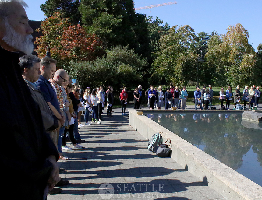 October 5th, 2017- Seattle University, students, faculty, and staff take a moment of silence to remember the victims of the shooting in Las Vegas.