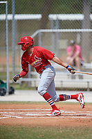 St. Louis Cardinals Ryan McCarvel (26) during a Minor League Spring Training game against the Houston Astros on March 27, 2018 at the Roger Dean Stadium Complex in Jupiter, Florida.  (Mike Janes/Four Seam Images)