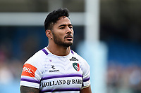 Manu Tuilagi of Leicester Tigers looks dejected after the match. Gallagher Premiership match, between Exeter Chiefs and Leicester Tigers on September 1, 2018 at Sandy Park in Exeter, England. Photo by: Patrick Khachfe / JMP