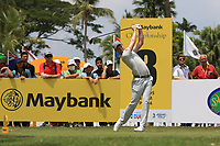 Danny Willett (ENG) in action on the 3rd tee during Round 1 of the Maybank Championship at the Saujana Golf and Country Club in Kuala Lumpur on Thursday 1st February 2018.<br /> Picture:  Thos Caffrey / www.golffile.ie<br /> <br /> All photo usage must carry mandatory copyright credit (© Golffile | Thos Caffrey)