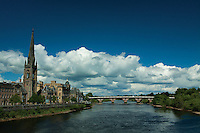 The River Tay and Smeaton's Bridge, Perth, Perthshire
