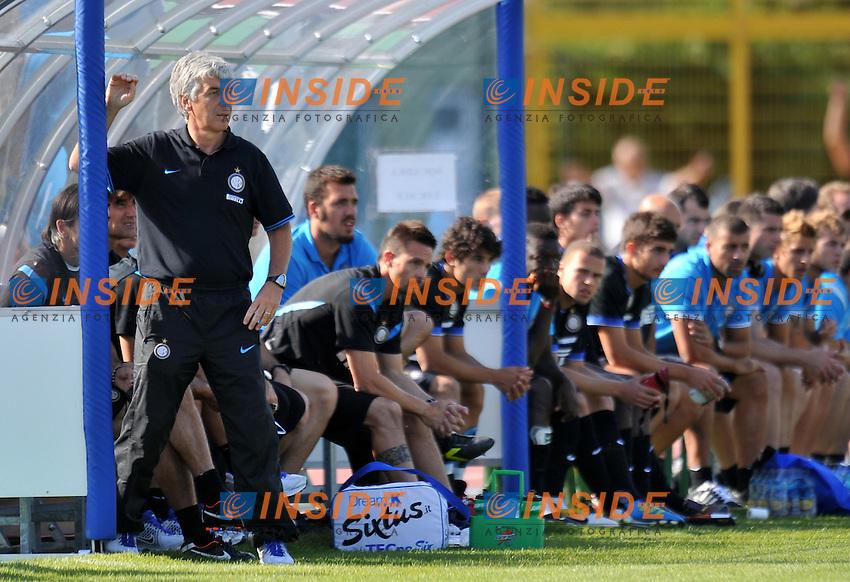 """Gian Piero GASPERINI (Inter) .Inter Vs Cremonese .Football Calcio gara amichevole 2011/2012 .Rovereto 20/7/2011 Stadio """"Rovereto"""".Foto Alessandro Sabattini Insidefoto"""