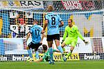 05.08.2019, Carl-Benz-Stadion, Mannheim, GER, 3. Liga, SV Waldhof Mannheim vs. TSV 1860 Muenchen, <br /> <br /> DFL REGULATIONS PROHIBIT ANY USE OF PHOTOGRAPHS AS IMAGE SEQUENCES AND/OR QUASI-VIDEO.<br /> <br /> im Bild: Gianluca Korte (SV Waldhof Mannheim #17) trifft das Tor zum 2:0<br /> <br /> Foto © nordphoto / Fabisch