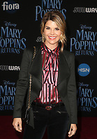 ***FILE PHOTO*** Felicity Huffman and Lori Loughlin Indicted in College Admission Bribery Case.<br /> HOLLYWOOD, CA - NOVEMBER 29: Lori Loughlin, at the World Premiere of Disney&iacute;s Mary Poppins Returns at The Dolby Theater in Hollywood, California on November 29, 2018. <br /> CAP/MPIFS<br /> &copy;MPIFS/Capital Pictures