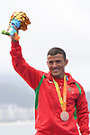 Mohamed Lahna (MAR), <br /> SEPTEMBER 10, 2016 - Triathlon : <br /> Men's Individual Paratriathlon PT2 Medal Ceremony<br /> at Fort Copacabana<br /> during the Rio 2016 Paralympic Games in Rio de Janeiro, Brazil.<br /> (Photo by AFLO SPORT)