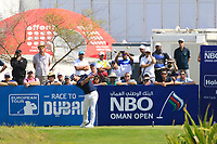 Paul Waring (ENG) during the third round of the NBO Open played at Al Mouj Golf, Muscat, Sultanate of Oman. <br /> 17/02/2018.<br /> Picture: Golffile | Phil Inglis<br /> <br /> <br /> All photo usage must carry mandatory copyright credit (&copy; Golffile | Phil Inglis)