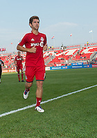 July 3, 2013: Toronto FC midfielder Michael Thomas #18 leaves the pitch after the warm-up during an MLS game between Toronto FC and Montreal Impact at BMO Field in Toronto, Ontario Canada.<br /> The game ended in a 3-3 draw.
