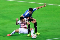 ARMENIA, COLOMBIA - JANUARY 19: Uruguay's Joaquin Piquerez fights for the ball against Paraguay's Sergio Diaz during their CONMEBOL Pre-Olympic soccer game at Centenario Stadium on January 19, 2020 in Armenia, Colombia. (Photo by Daniel Munoz/VIEW press/Getty Images)