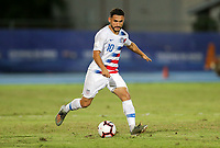 GEORGETOWN, GRAND CAYMAN, CAYMAN ISLANDS - NOVEMBER 19: Cristian Roldan #10 of the United States moves with the ball during a game between Cuba and USMNT at Truman Bodden Sports Complex on November 19, 2019 in Georgetown, Grand Cayman.