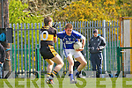 Kieran O'Leary Dr Crokes stops Jeremy O'Callaghan laune Rangers during their  Club Championship semi final in Killarney on Sunday