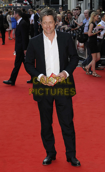 Hugh Grant<br /> attended the &quot;Alan Partridge: Alpha Papa&quot; UK film premiere, Vue West End cinema, Leicester Square, London, England, UK, <br /> 24th July 2013.<br /> full length black suit white shirt <br /> CAP/CAN<br /> &copy;Can Nguyen/Capital Pictures