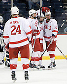 Brendon Nash (Cornell - 24), Colin Greening (Cornell - 15), Dan Nicholls (Cornell - 29), Riley Nash (Cornell - 14) - The University of New Hampshire Wildcats defeated the Cornell University Big Red 6-2 (EN) on Friday, March 26, 2010, in their NCAA East Regional semi-final at the Times Union Center in Albany, New York.