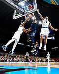 SAN ANTONIO, TX - APRIL 02: Charles Matthews #1 of the Michigan Wolverines drives to the basket against Omari Spellman #14 of the Villanova Wildcats during the second half of the 2018 NCAA Men's Final Four National Championship game at the Alamodome on April 2, 2018 in San Antonio, Texas.  (Photo by Brett Wilhelm/NCAA Photos via Getty Images)