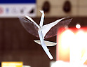 "October 3, 2016, Chiba, Japan - Japan's electronics parts maker Rohm demonstrate a remote controlled flying paper crane robot ""Orizuru"" which can be controled by a wrist watch shaped small device at a press preview of the CEATEC Japan 2016 in Chiba, suburban Tokyo on Monday, October 3, 2016. Asia's largest electronics trade show CEATEC will be held here from October 4 through 7.   (Photo by Yoshio Tsunoda/AFLO) LWX -ytd-"
