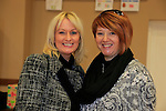 Jackie Taaffa, Angela Ewart dingle at the school coffee morning and cake sale being run by the PTA of St Peters School, Bolton Street .<br /> Picture: Fran Caffrey www.newsfile.ie