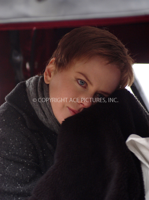 Nicole Kidman re-shoots some of the scenes for her new movie, 'Birth.' Central Park, New York, February 20, 2004. Please byline: AJ SOKALNER/ACE Pictures.   ..*PAY-PER-USE*      ....IMPORTANT: Please note that our old trade name, NEW YORK PHOTO PRESS (NYPP), is replaced by new name, ACE PICTURES. New York Photo Press and ACE Pictures are owned by All Celebrity Entertainment, Inc.......All Celebrity Entertainment, Inc:  ..contact: Alecsey Boldeskul (646) 267-6913 ..Philip Vaughan (646) 769-0430..e-mail: info@nyphotopress.com