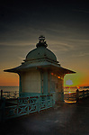 Ornate Victorian seafront shelter and Brighton England