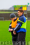 St Mary's manager Maurice Fitzgerald never takes his eyes of the play as brother and selector Seamus looks at options to give some of the subs a chance for a run.