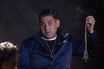 Jonah Hill in The Watch (German title: THE WATCH - NACHBARN DER 3. ART)...- Editorial Use Only -..Supplied by face to face