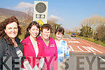 SPEED SIGN: Parents and staff of Filemore school who say the pilot flashing speed signs at the school have helped to slow down traffic passing by, l-r: Anne Marie Lynch, Nora Golden (Principal), Catherine Clifford, Denise Collins.