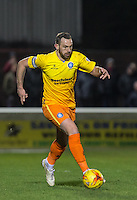Paul Hayes of Wycombe Wanderers in action during the Sky Bet League 2 match between Dagenham and Redbridge and Wycombe Wanderers at the London Borough of Barking and Dagenham Stadium, London, England on 9 February 2016. Photo by Andy Rowland.