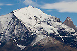 Snow-covered peak, Torres del Paine National Park, Patagonia, Chile