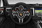 Car pictures of steering wheel view of a 2015 Porsche Macan Turbo 5 Door SUV
