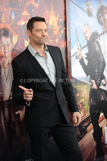 WWW.ACEPIXS.COM<br /> October 4, 2015 New York City<br /> <br /> Hugh Jackman attending the 'Pan' New York Premiere arrivals at Ziegfeld Theater on October 4, 2015 in New York City.<br /> <br /> Credit: Kristin Callahan/ACE Pictures<br /> <br /> Tel: (646) 769 0430<br /> e-mail: info@acepixs.com<br /> web: http://www.acepixs.com