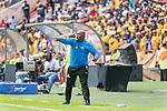 05.01.2019, FNB Stadion/Soccer City, Nasrec, Johannesburg, RSA, Premier League, Kaizer Chiefs vs Mamelodi Sundowns<br /> <br /> im Bild / picture shows <br /> <br /> Pitso Mosimane Trainer <br /> Torjubel / Jubel <br /> Einzelaktion, Ganzkörper / Ganzkoerper<br /> Gestik, Mimik,<br /> <br /> <br /> Foto © nordphoto / Kokenge