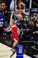 17th January 2019, The O2 Arena, London, England; NBA London Game, Washington Wizards versus New York Knicks; Sam Dekker of the Washington Wizards scores 2 points from a slam dunk