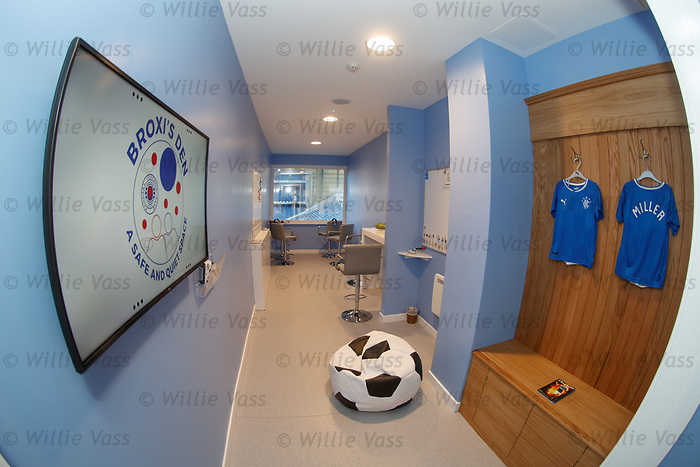 Broxi's Den the new sensory room at Ibrox for children with complex learning difficulties.